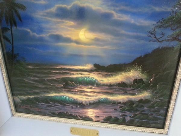 """Evening Island Surf"" Original Oil on Canvas by Christian Riese Lassen"