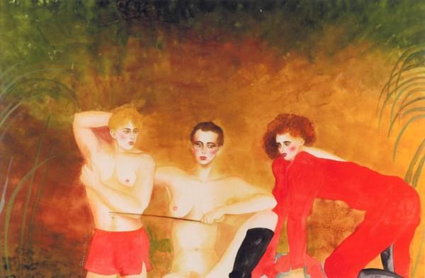 """""""Private Dancer"""" Original Watercolor by Joanna Zjawinska"""