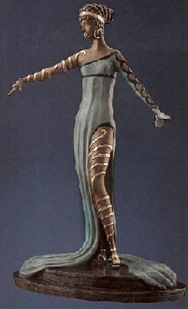 """La Merveillieuse"" 1982 Bronze Sculpture by Erte"