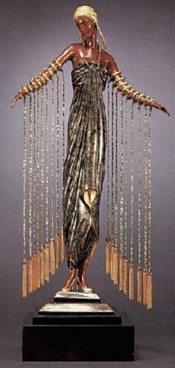Zobeide bronze sculpture by Erte