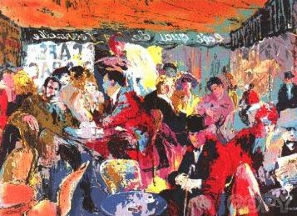 """""""Cafe Rive Gauche"""" Serigraph by LeRoy Neiman"""