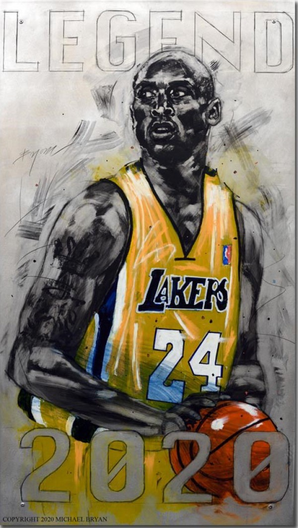"""""""Legend"""" Kobe Bryant Giclee on Paper, Canvas or Aluminum by Michael Bryan"""