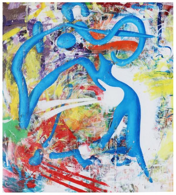"""Entanglement"" Original Acrylic on Canvas by Rick Garcia"