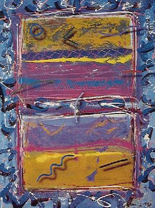 """""""Blues For Windows"""" Serigraph by Mark Erickson"""