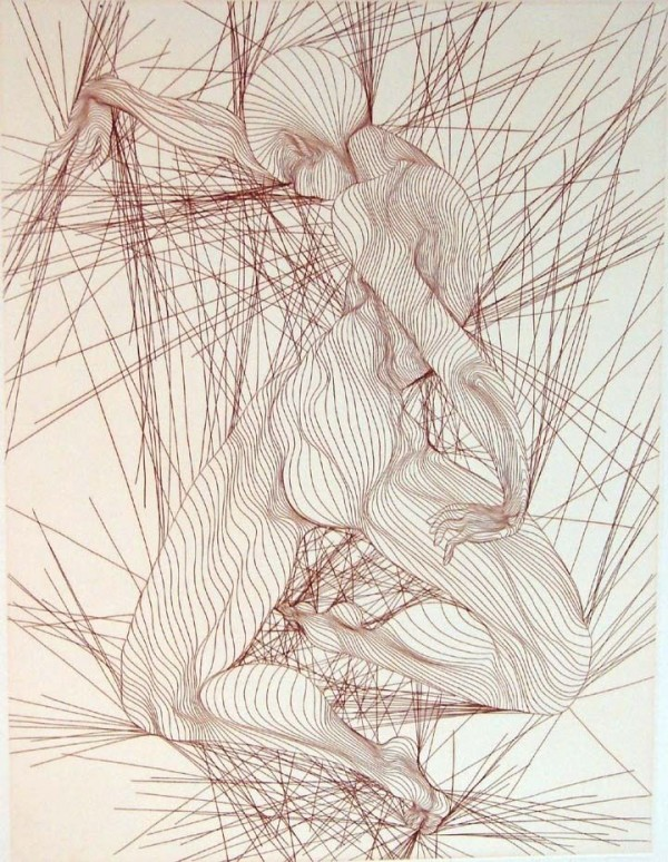 Contraction Sepia Etching by Guillame Azoulay