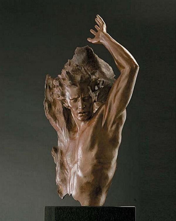 """Ex Nihilo Fragment 4"" Bronze Sculpture by Frederick Hart"