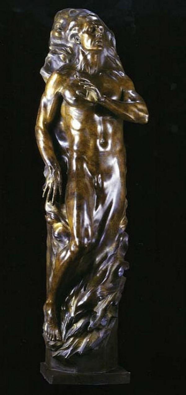 """Adam Fragment"" Life Size Bronze Sculpture by Frederick Hart"