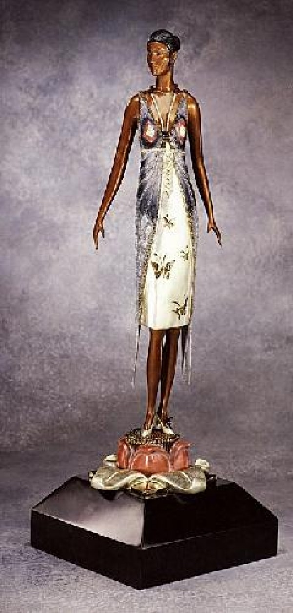 """Butterfly Lady"" Bronze Sculpture by Erte"
