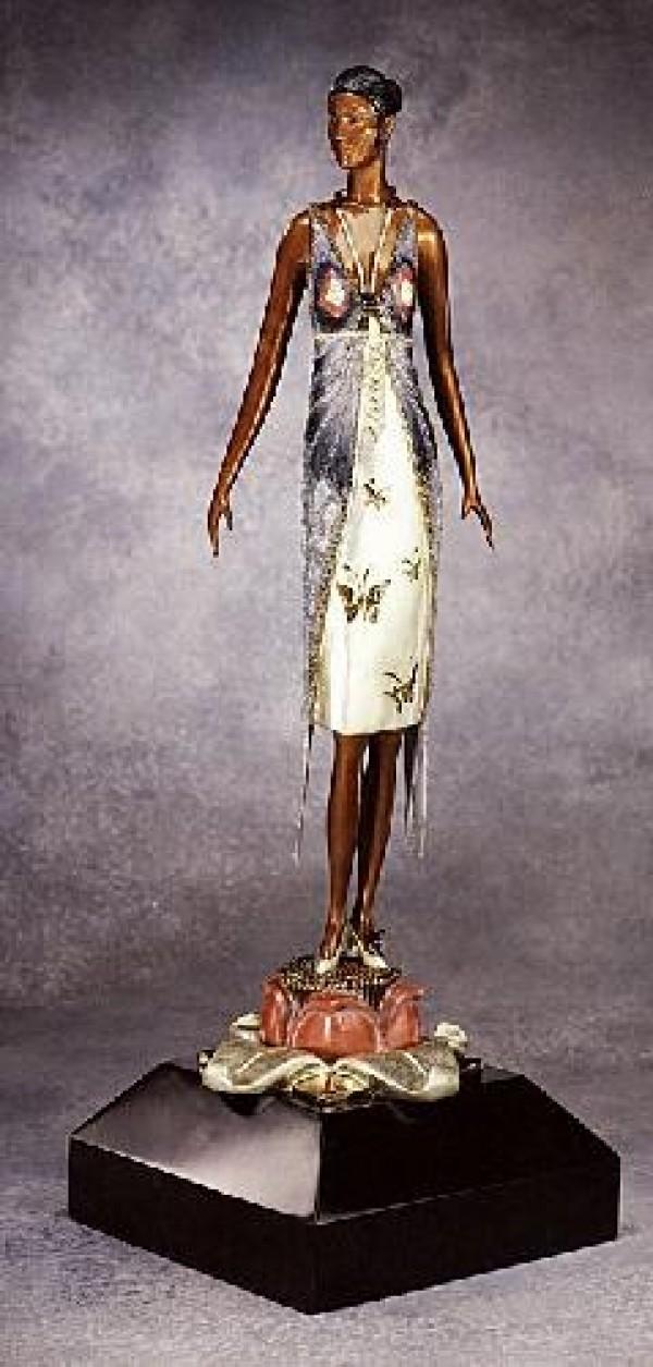 """""""Butterfly Lady"""" Bronze Sculpture by Erte"""