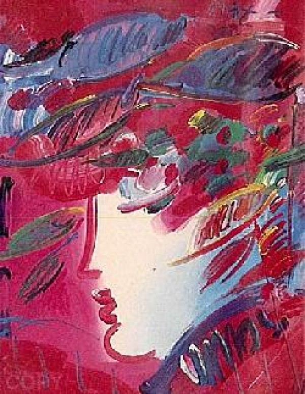 """""""Beauty"""" Serigraph/Arches Paper by Peter Max from the Beauty and Fauve Suite"""