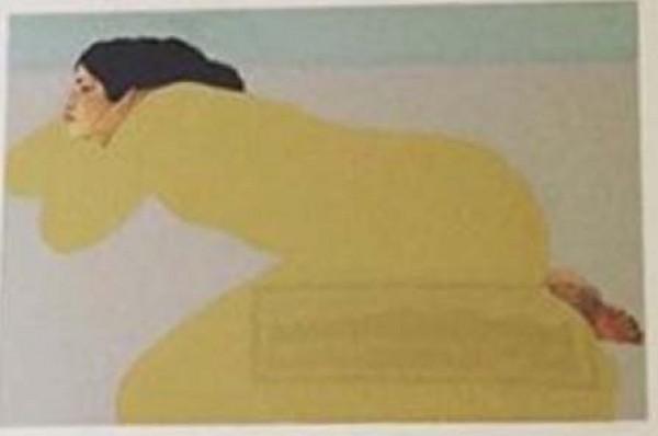 """""""Yellow Dress"""" serigraph by Pegge Hopper"""