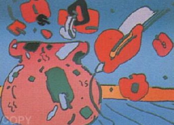 """""""Marilyn's Flowers I"""" Serigraph on Paper by Peter Max"""