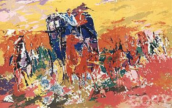 """""""Homage to Remington"""" Serigraph by LeRoy Neiman"""