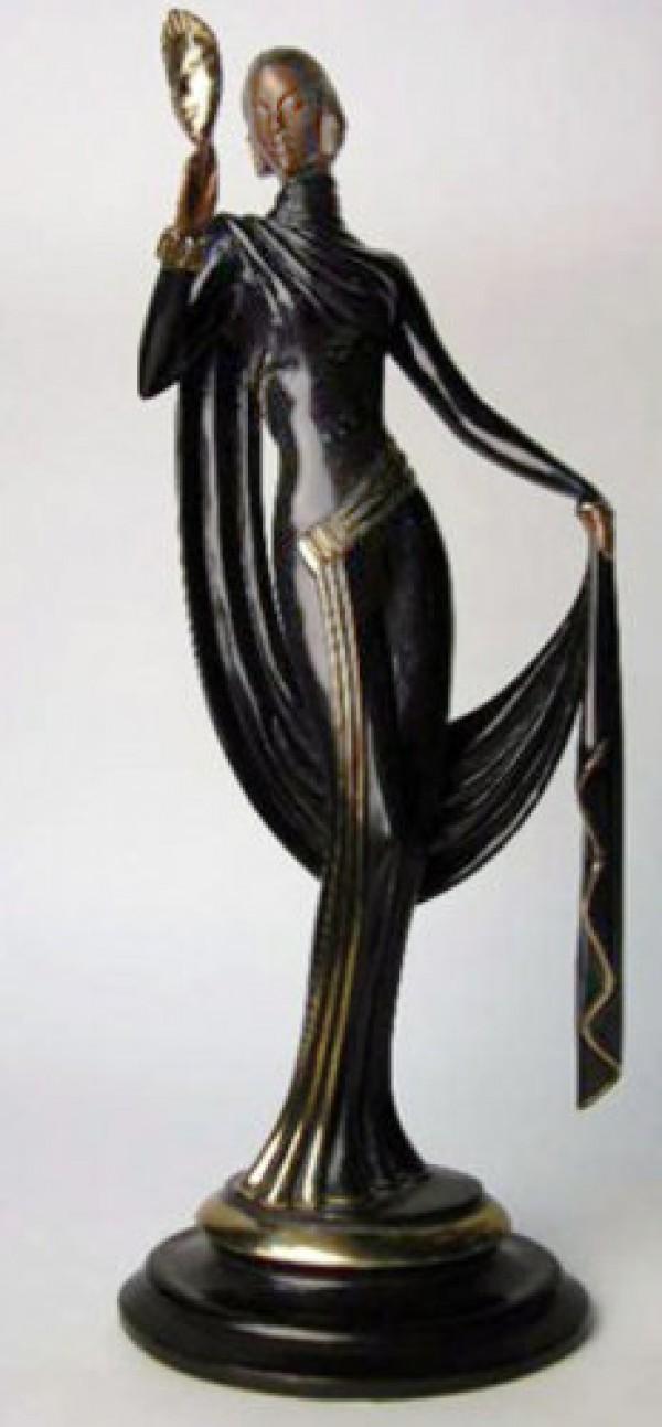 """""""Le Masque"""" Bronze Sculpture by Erte"""