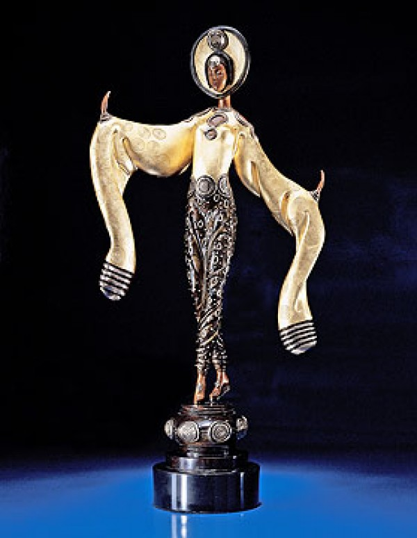 """Willow Tree"" Bronze Sculpture by Erte"