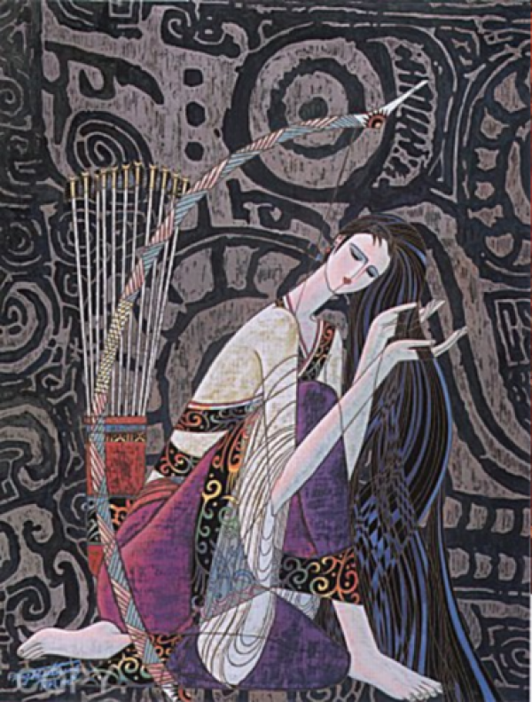 """""""Keeping Peace"""" Serigraph on Paper by Ting Shao Kuang"""