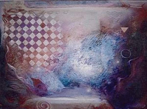 """Pools in Shiraz"" Original Oil/Acrylic on Canvas by Richard Quinn"