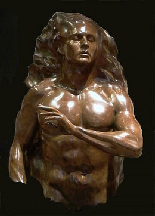 """Adam Fragment"" Bronze Sculpture by Frederick Hart"