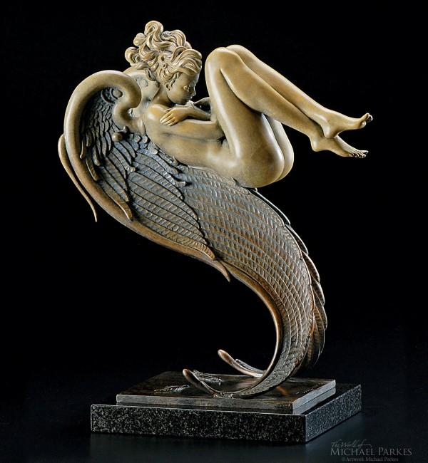 """Angel of August"" Bronze Sculpture by Michael Parkes"