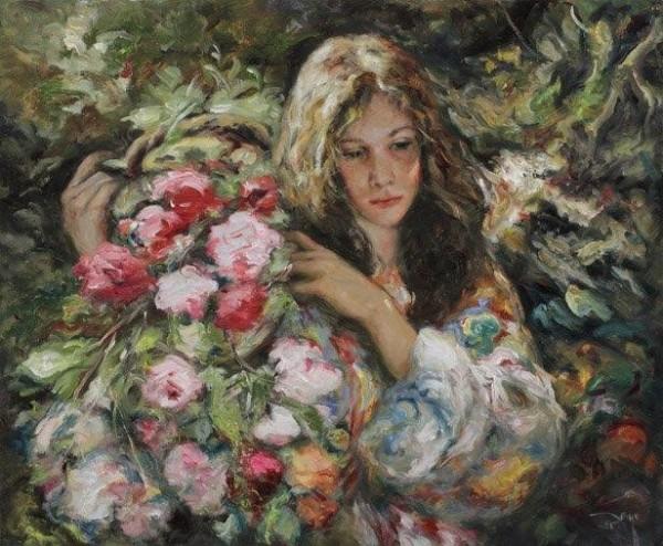 """""""Dia de Campo"""" Original Oil on Canvas by Royo"""