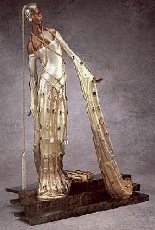 """Melisande"" a Bronze Sculpture by Erte"