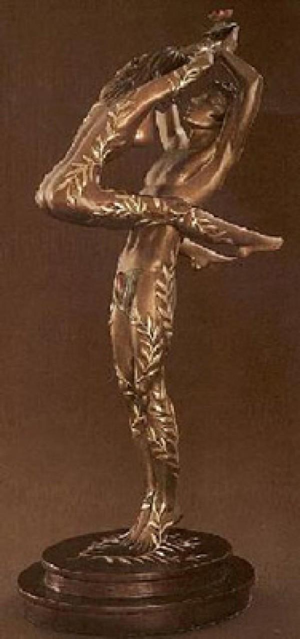 """Amants"" Bronze Sculpture by Erte"