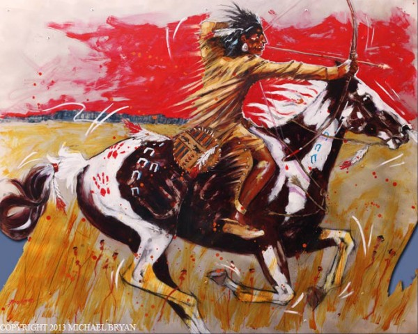 """""""Red Sky"""" Giclee/Paper by Michael Bryan"""