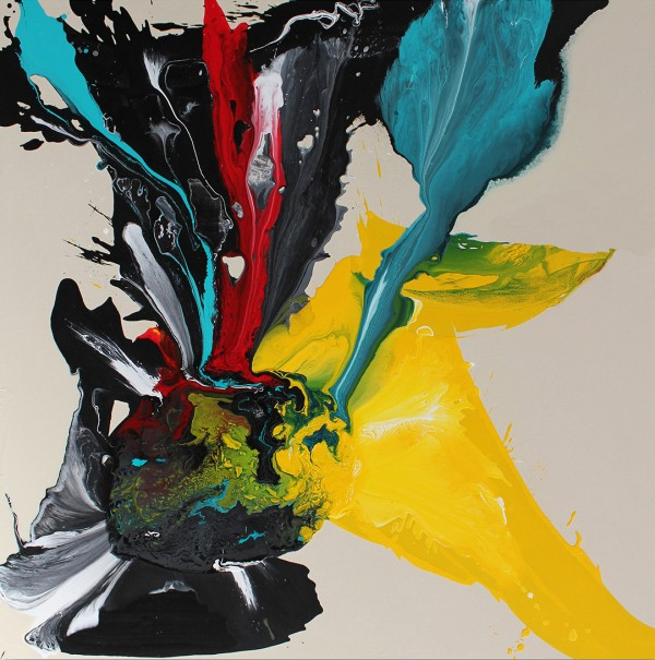 """Her Starry Eyes, Cutting Through"" 2019 Original Acrylic on Canvas by Mark Erickson"