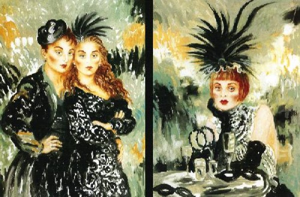 Moulin Rouge Suite  Serigraphs on Canvas by Joanna Zjawinska