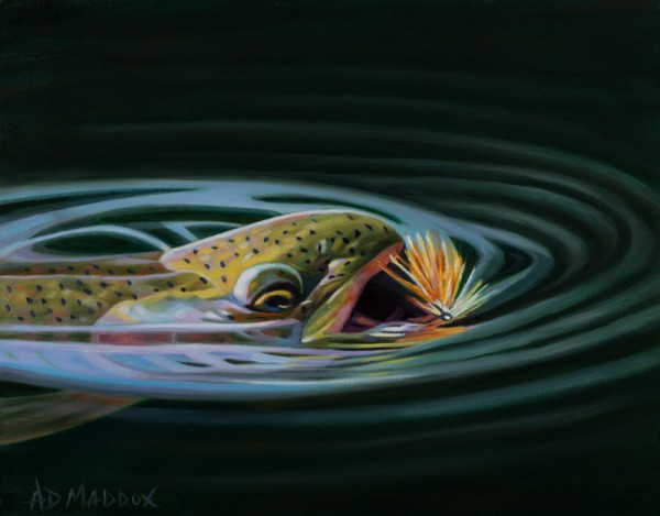 """""""Rainbow Rise II"""" Giclee on Canvas by A D Maddox"""