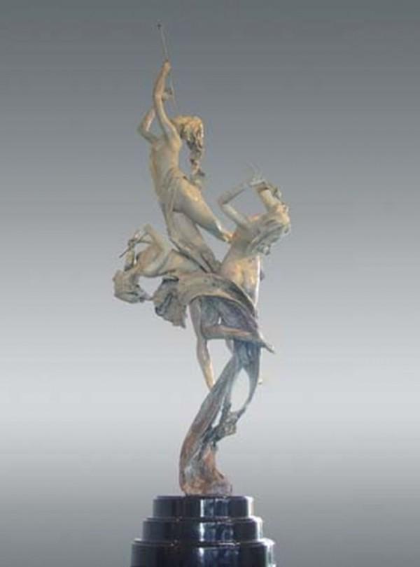 Celebration  bronze sculpture by Tuan
