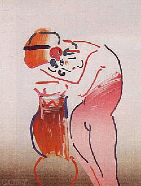 """""""Nude and Vase"""" Lithograph by Peter Max from the Ladies of the 80's Suite"""