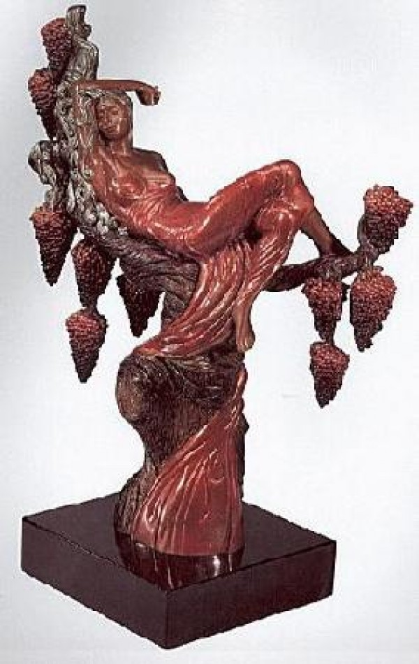 Heat Bronze Sculpture by Erte