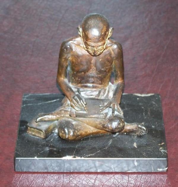 """""""Ghandi"""" bronze sculpture by Clayton Robbins"""