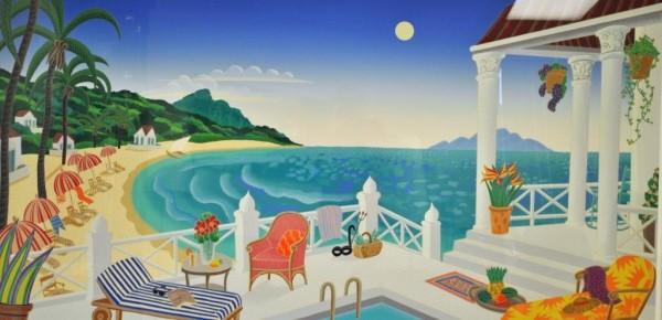 """Crescent Bay"" Serigraph by Thomas McKnight"