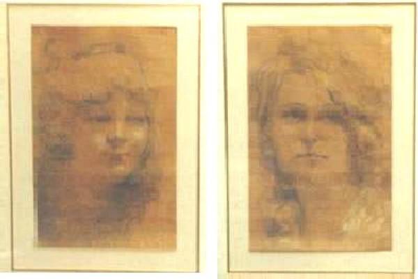 """Untitled Portrait I"" Original Pastel by William Henry Clapp"
