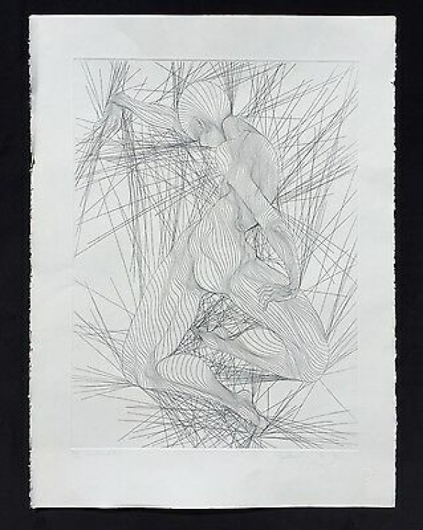 """""""Contraction"""" Black & White Etching by Guillame Azoulay"""