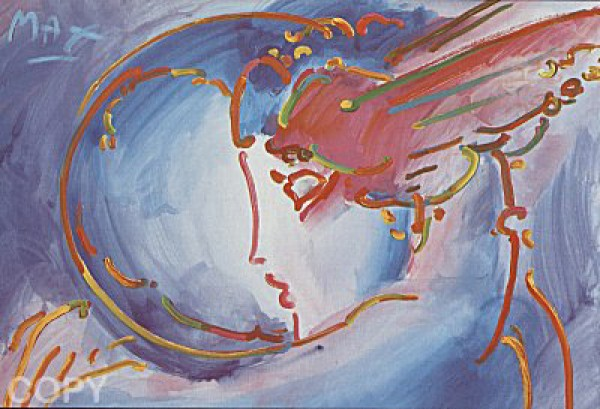 """I Love The World"" Serigraph on paper by Peter Max"