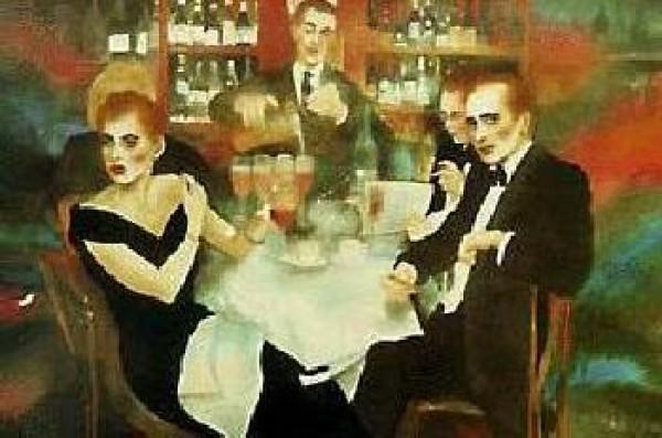 """Harrys Bar"" Serigraph by Joanna Zjawinska"