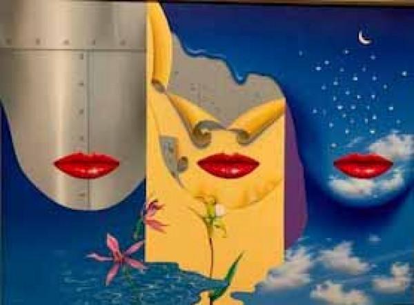 """Three Faces"" Original Acrylic on Canvas by Rick Garcia"