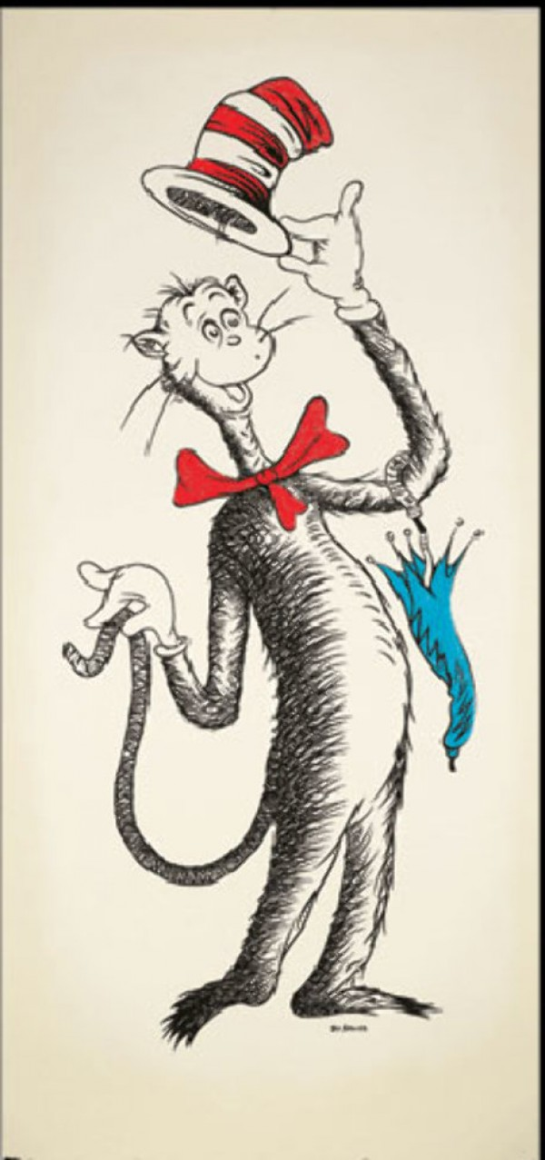 Ted's Cat Serigraph by Dr. Seuss