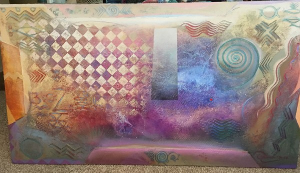 """Genesis"" Acrylic and Oil on Canvas by Richard Quinn"
