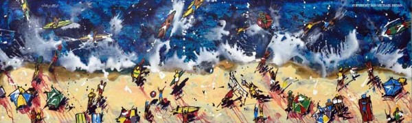 """""""Beach Day, Wet/Dry"""" Limited Edition Giclee on Paper, Canvas or Aluminum"""