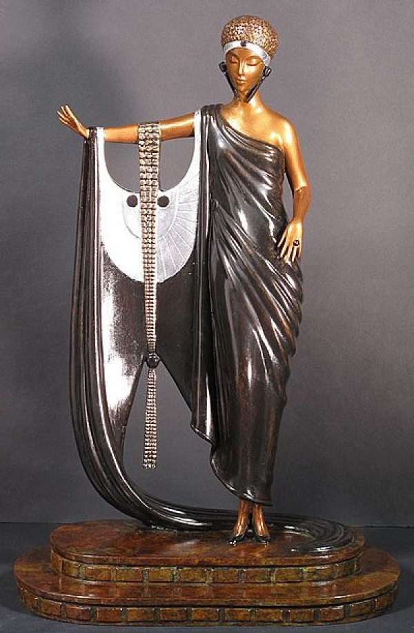"""Sophisticated Lady"" 1980 Bronze Sculpture by Erte"