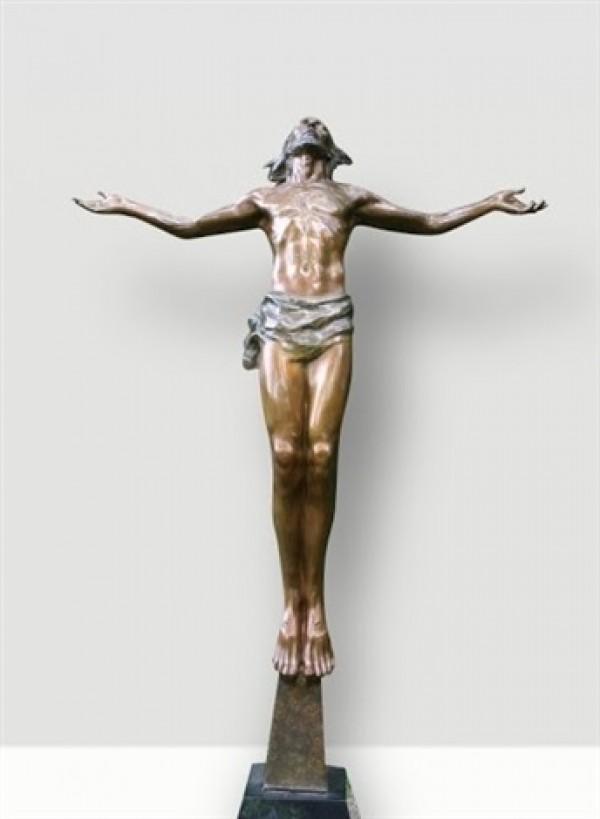 """Christ Rising"" Bronze Sculpture by Frederick Hart"