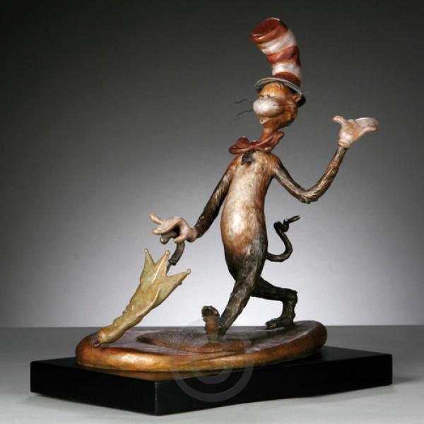 Cat In The Hat Bronze Maquette sculpture by Dr. Seuss