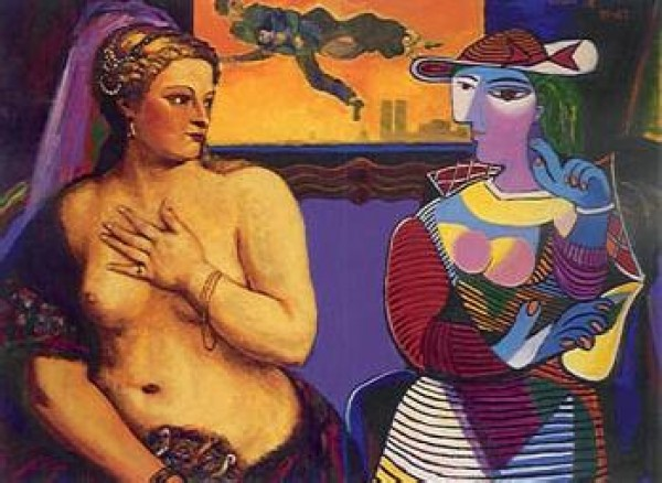"""""""Love Above Confrontation"""" Serigraph by Dr. T. F. Chen"""