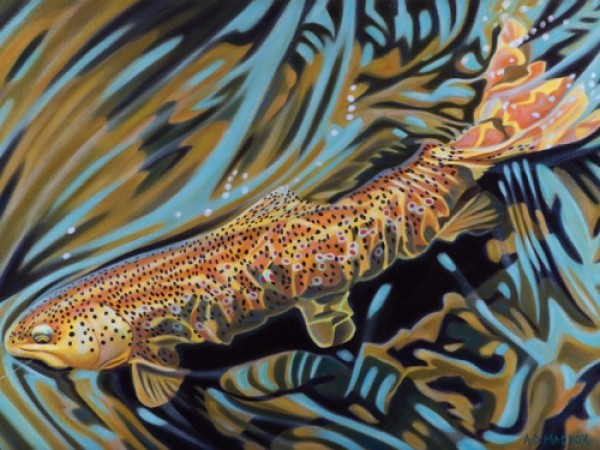 """""""Provo Brown"""" Giclee on Canvas by AD Maddox"""