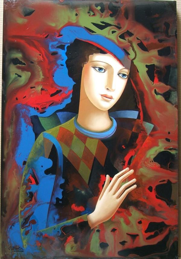 """In The Shadow"" Original Oil on Board by Oleg Zhivetin"