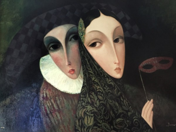 """Masquerade"" Serigraph on Canvas by Sergey Smirnov"
